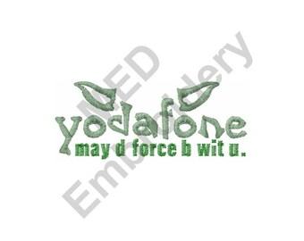 Yodafone - Machine Embroidery Design, Yoda, Star Wars