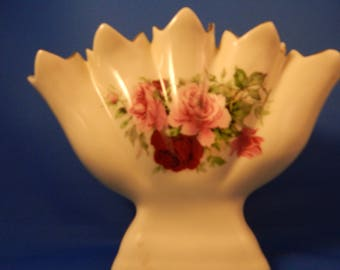 Formalities by Baum Bros, Victorian Rose Collection, Unique Vintage China Vase, vintage china