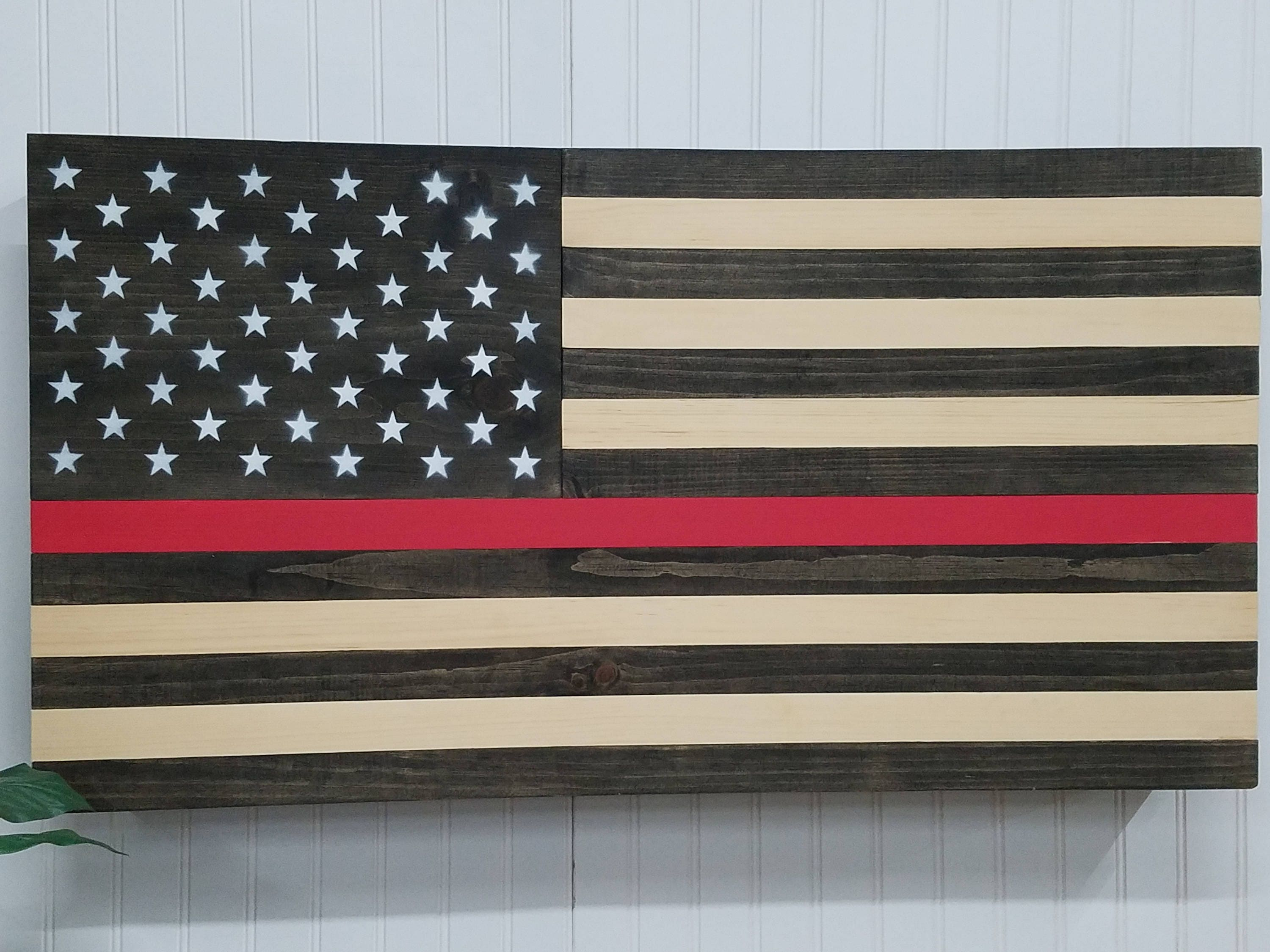 Thin Red Line American Flag Concealment Furniture Compartment Cabinet  Secret Hidden Concealed Gun Rack Tactical Stroage Home Protection Case