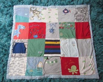 Baby memory keepsake blanket