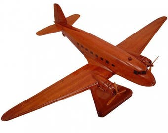 Dc3 etsy dc3 dakota airplane wooden model made of mahogany wood sciox Image collections