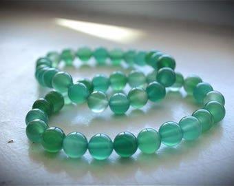 Green Adventurine Bead Bracelet