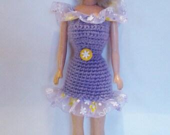 robe poupée barbie fait main