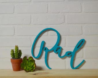 Rad Wood Cut Out, Kids decor, blue wall hanging