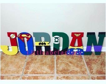 Superhero Letters, 11in Superhero letters, super hero name, super heroes, superheroes, batman