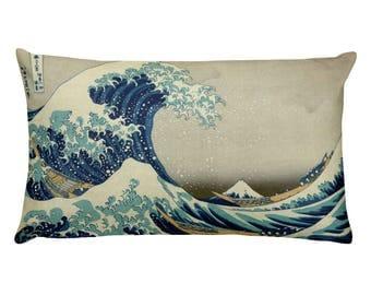 On Sale! Great Wave of Kanagawa, Hokusai - Rectangular Pillow