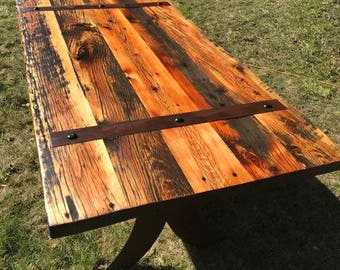 Beautiful Handcrafted Barnwood Dining Table