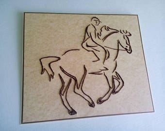 Horse racing gift Horse lovers gifts Equestrian gift Horse gifts Horse accessories Equestrian gift Embroider card Equine card invitation