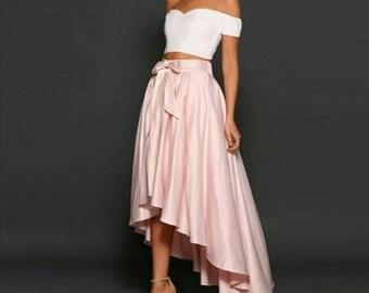 Pink hi lo skirt / Pink high low skirt / African skirt / african skirts / ankara skirt / african high low skirt / african print skirt