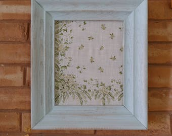 Vintage Hanky in a Farmhouse Distressed Frame