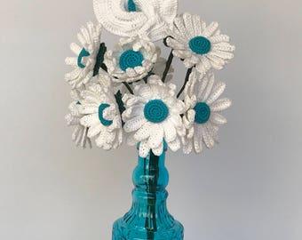 Daisy Flower Blossom, daisy flower, Happy Patty design, daisies, crochet - individual flower