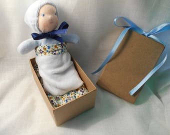 mini Waldorf doll to carry around!