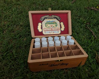 Cigar box young living essential oil holder storage free shipping