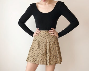 Beige Floral Skirt