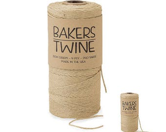 Bakers Twine Krafts Duo 4-ply 100% Cotton Baker's Twine , gift wrap, favors, farmhouse wedding