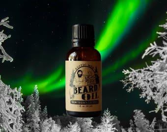 Beard Oil - Beard Conditioner - Rustic Men NORTHERN LIGHTS - 1 oz - Beard Grooming - Beard Care - Beard Gifts - Beard Growth - Beard Product