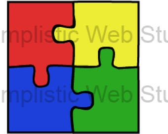 Autism Awareness Puzzle Pieces Clip Art