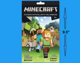Minecraft Sticker Book, Over 300 Stickers, Minecraft Gifts, Kid Crafts, Video Game Gifts, Pixel Building, Scrapbook Stickers, Scrapbooking