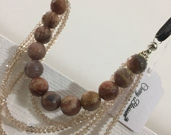 Necklace of stones and crystals