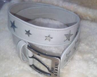 Soft leather padded designer belts