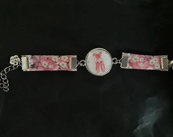 Liberty bracelet and cabochon girl
