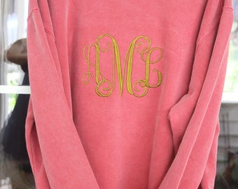 Embroidered Comfort color sweat shirts