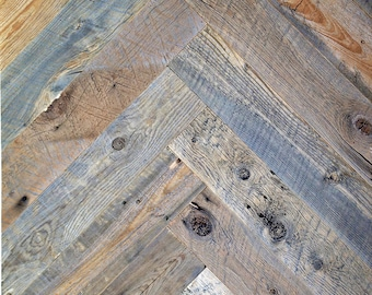 "4"" Reclaimed Wood Planks from Reclaimed Snow Fence Wood - Cheyenne Finish"