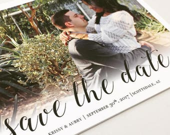 Save The Date, Save The Date Postcard, Wedding Announcement,  Wedding, Photo, Printable File, Save the Date Card, Custom Design