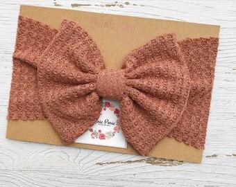 Rose Waffle Knit Headwrap