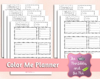 Coloring Page Planner