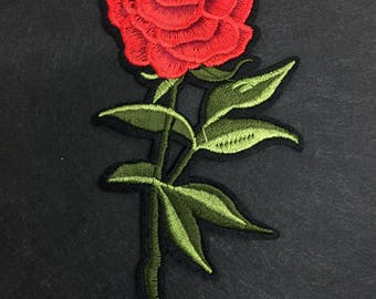 Embroidered Gucci Style Patch, Iron On Flower Patch, Embroidered Rose