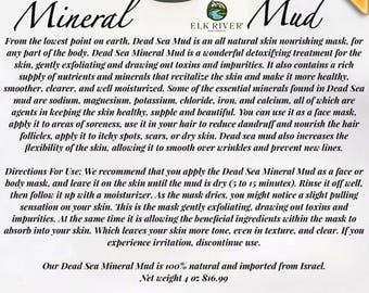 FREE SHIPPING Dead Sea Mineral Mud