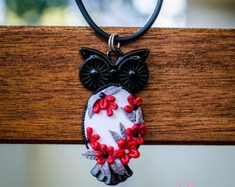 Necklace 'Black Owl'