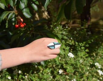 Ring, Miyuki Delica beads 10/0