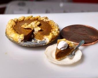 Pumpkin Pie 1:12 Scale