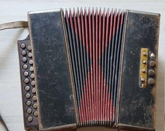 Wintage Bayan, Russian folk musical instrument, Accordion, Hand harmonica, Button Accordion, Kreminne, Harmonic, Accordion Instrument