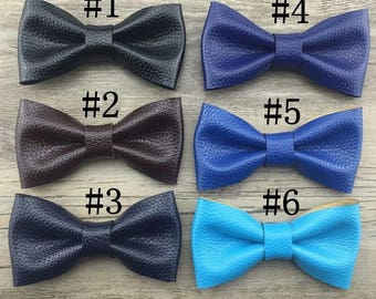 Preorder- Leather bow clips