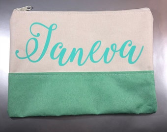 Makeup Bag. Personalized Cosmetic Bag. Bridesmaid Gifts. Bride Tribe. Lipstick Holder. Personalized ID Holder. Tassel Keychain. ID Keychain