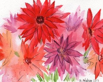 Gerber Daisy Bouquet [032] Original, Prints, and Cards