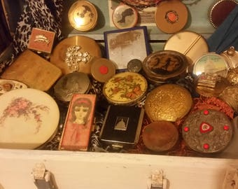 Vintage Compacts and Trinket Boxes (Lot of 25-30)