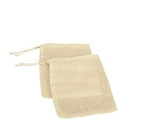"Cotton Muslin Bags 3"" x 4"" with  Drawstring Closure pack of 50"