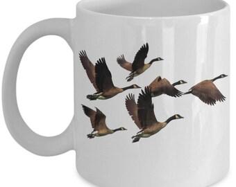 Canada Goose Coffee Mug Cool Geese In Flight Gift