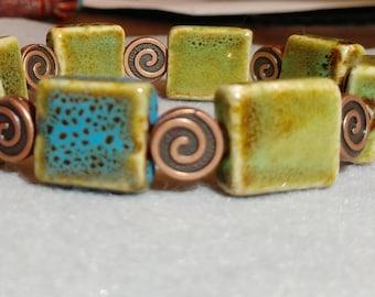 Green Ceramic Bracelet