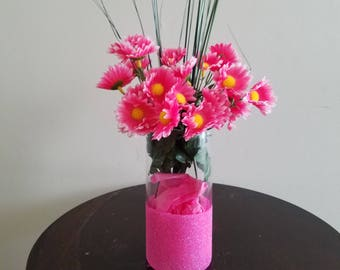 Pink Flowers, Flower Arrangment, Centerpiece, Spring Flowers, Summer Flowers,Daisy,