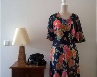 Vintage colorful dress, 1970s