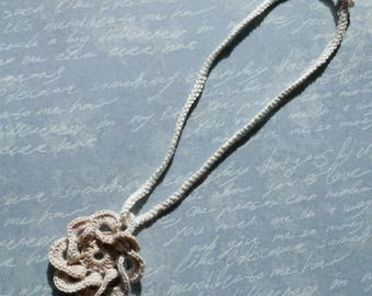 Necklace - crocheted