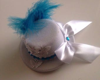 White Mini Bowler Hat