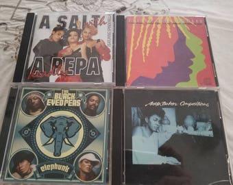 Lot of Four 4 Hip Hop Funk Reggae CD's 80's & 90's Salt N Pepper-Anita Baker-Black Eyed Peas
