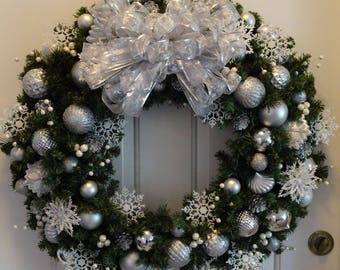 Christmas Wreath | Winter Wonderland Wreath | Snowflakes