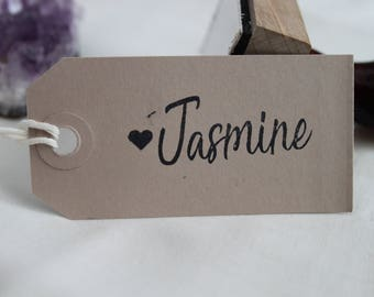 Wooden custom name stamp